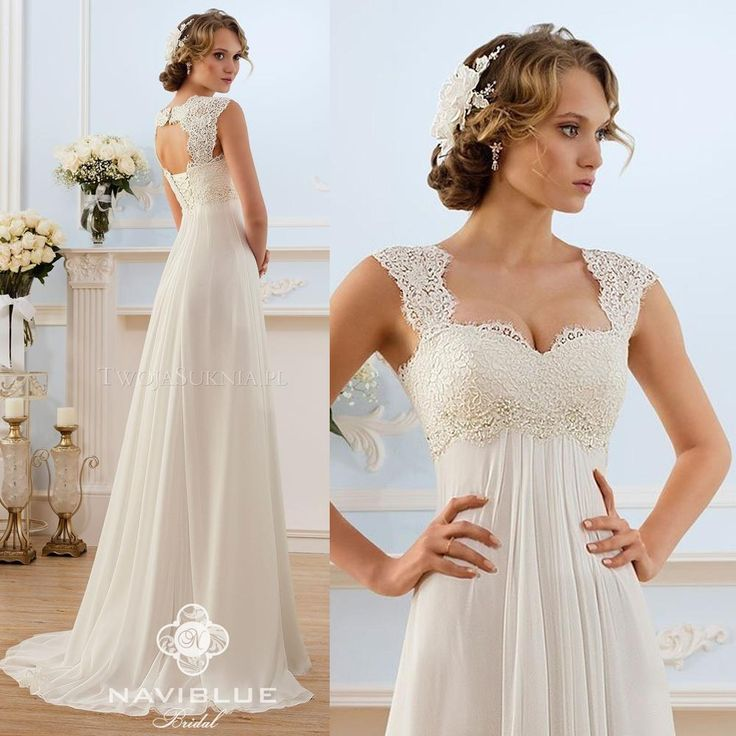 cheap wedding dresses for pregnant brides photo - 1