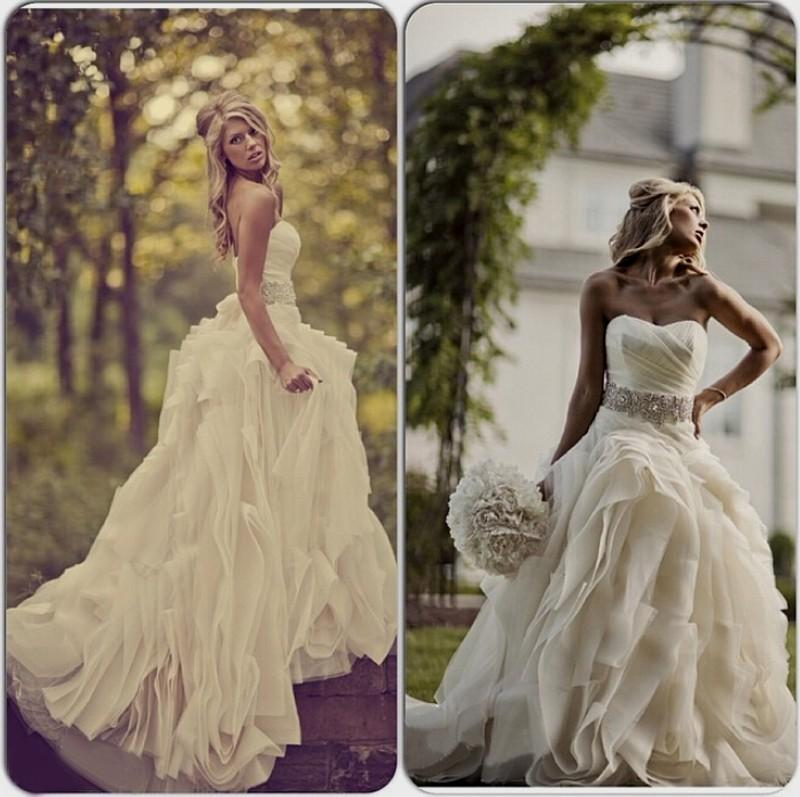 cheap western wedding dresses photo - 1
