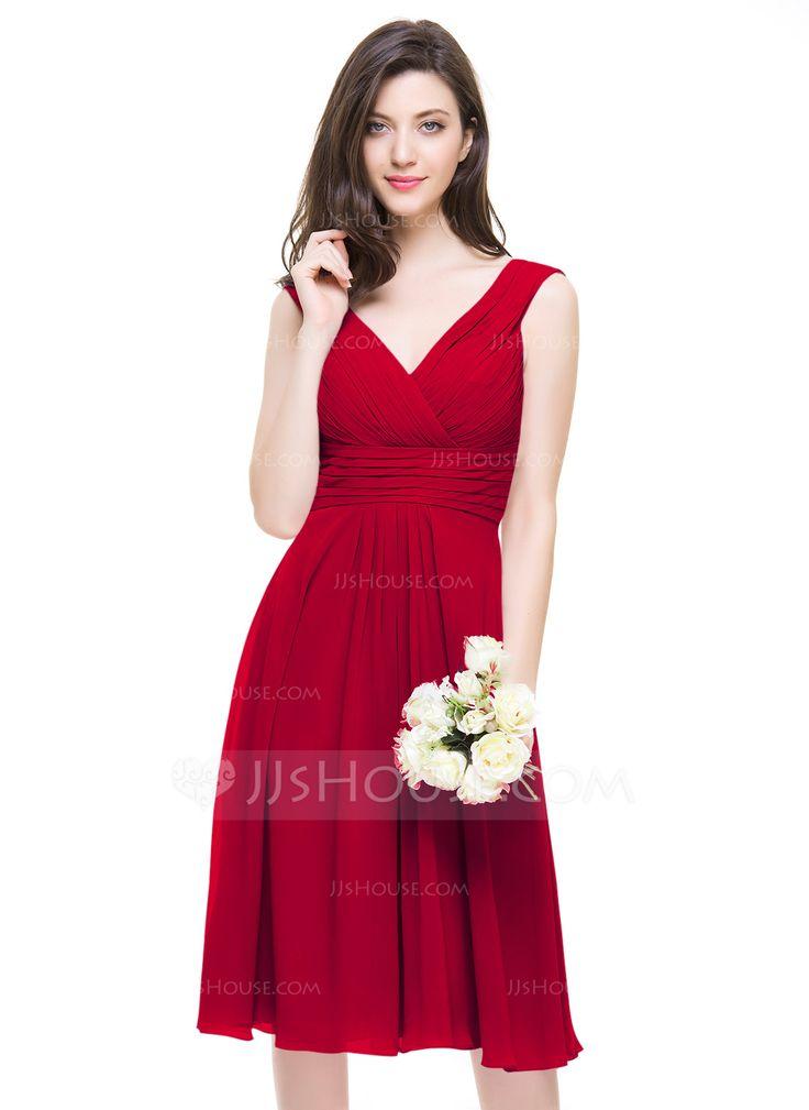 chiffon a line wedding dresses photo - 1