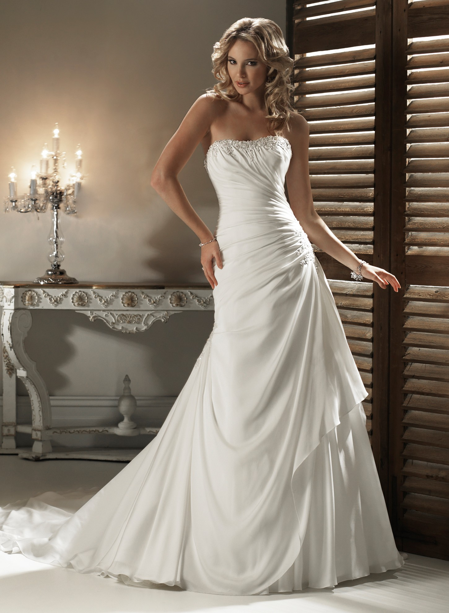 chiffon bridesmaid dresses for beach wedding photo - 1