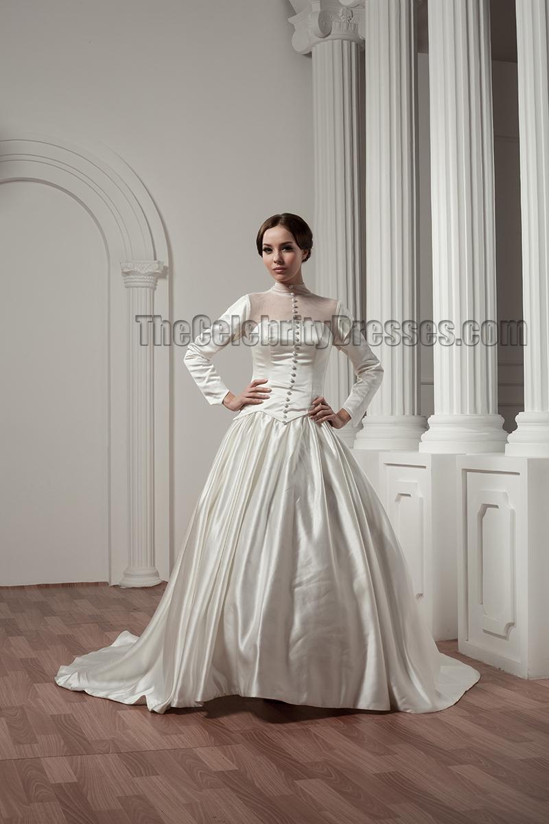 classic long sleeve wedding dresses photo - 1