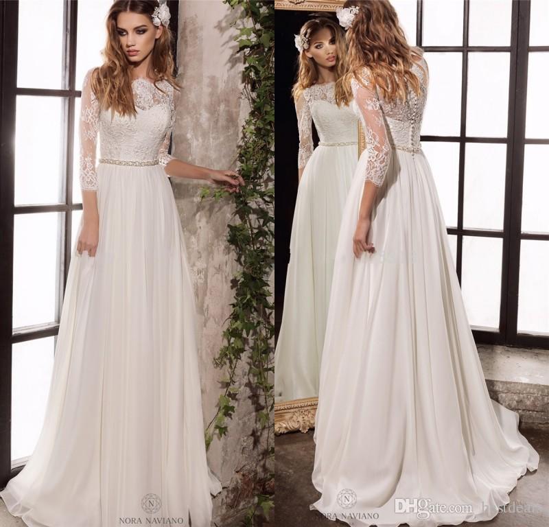 classic simple wedding dresses photo - 1