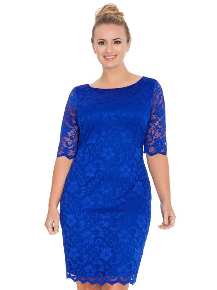 cobalt blue dresses for wedding photo - 1
