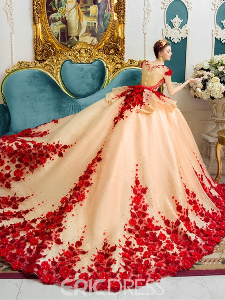 colored wedding dresses photo - 1