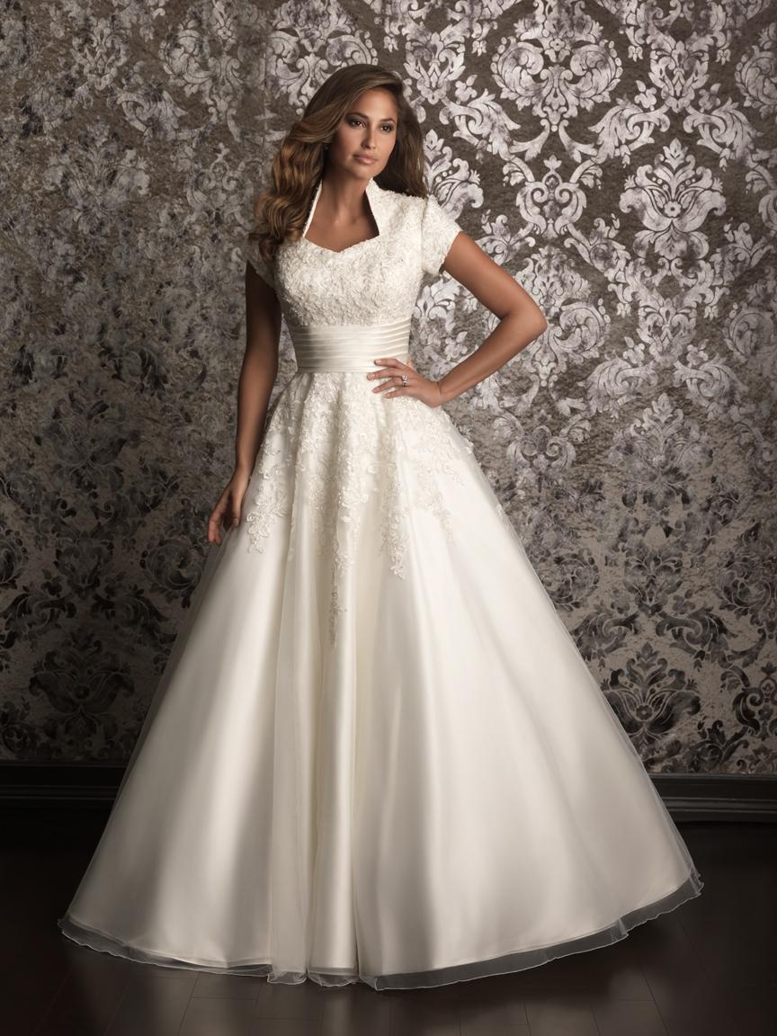 conservative wedding dresses photo - 1