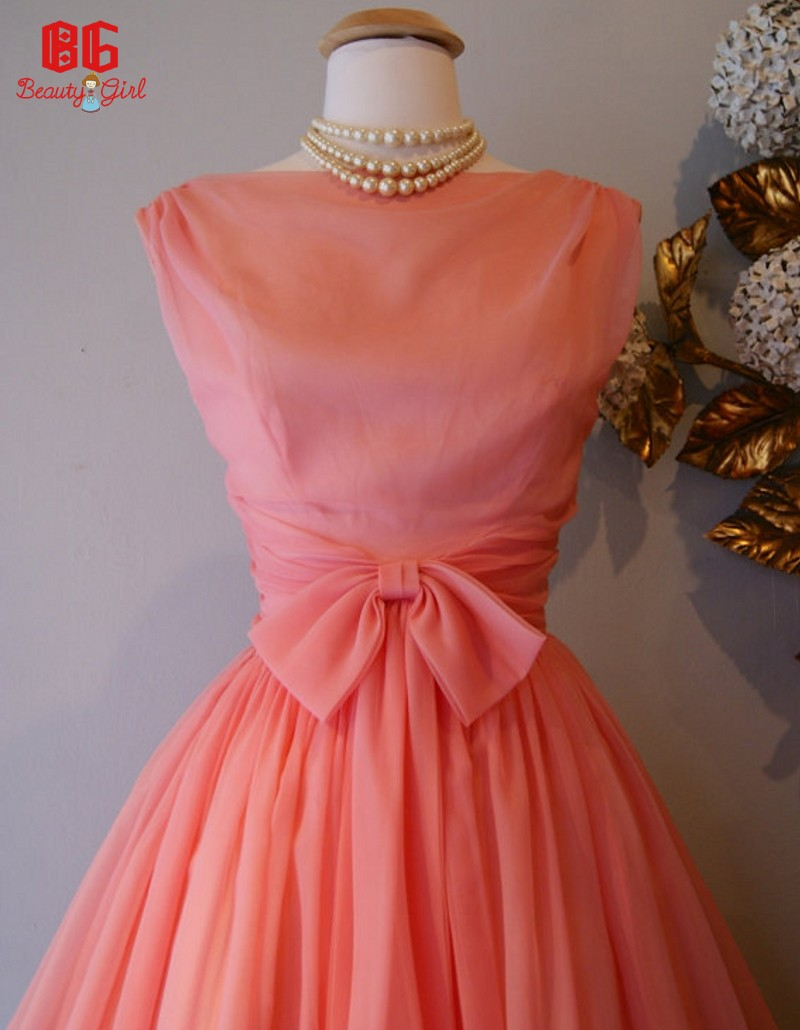 coral colored dresses for wedding photo - 1