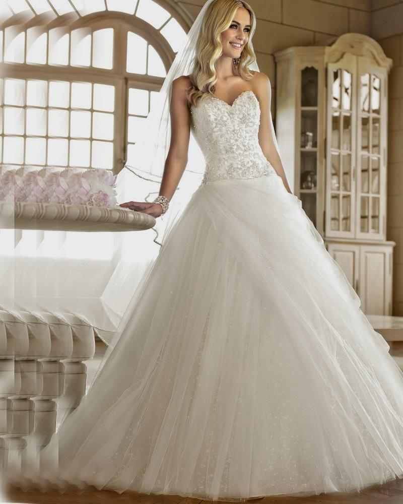 corset ball gown wedding dresses photo - 1