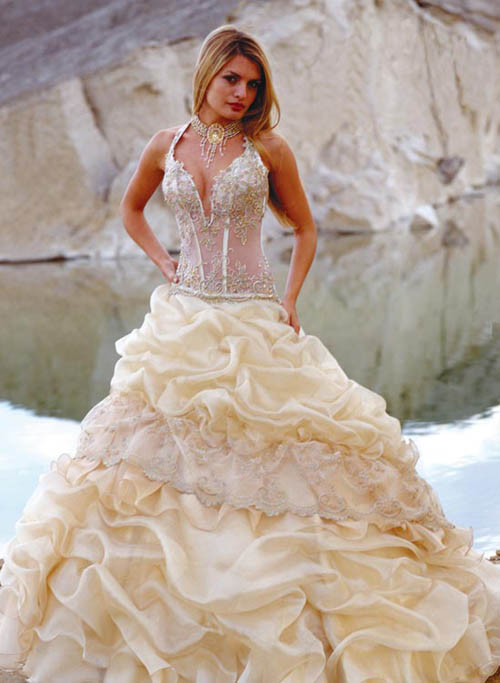 corset style wedding dresses photo - 1