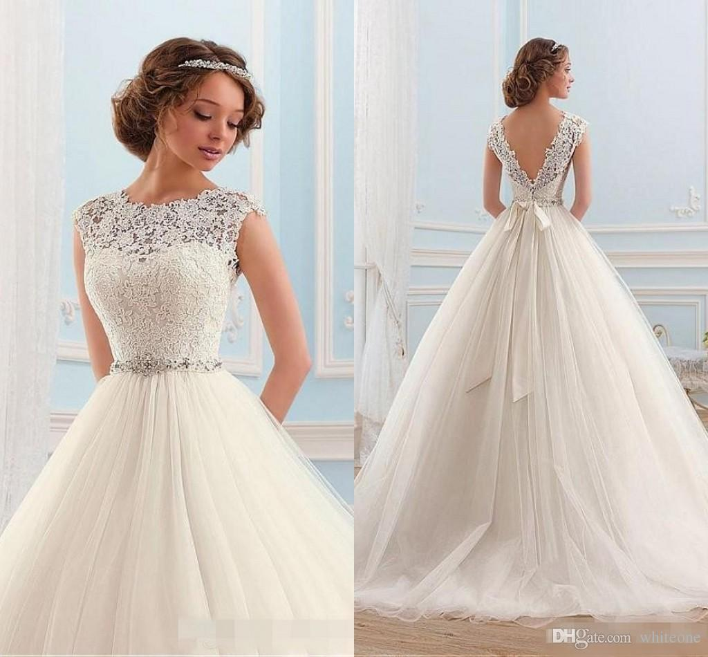 corset wedding dresses with sleeves photo - 1