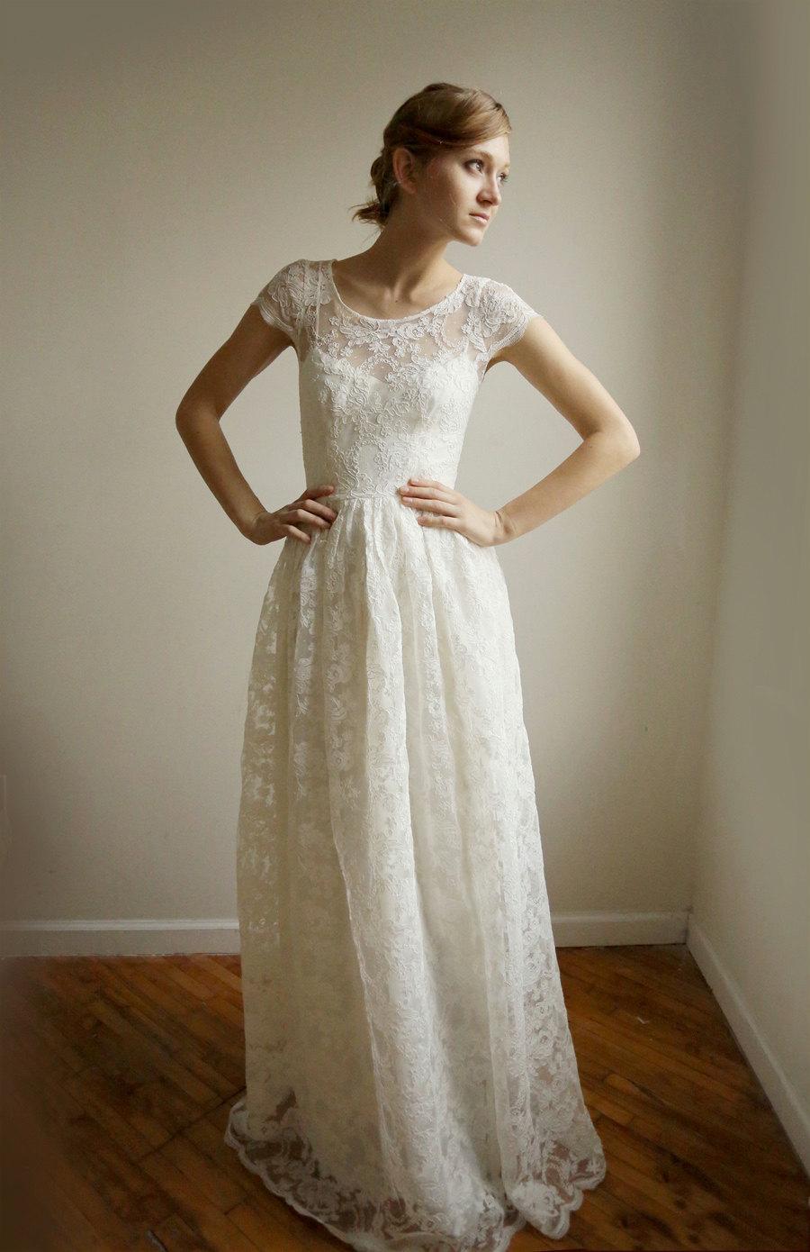 cotton wedding dresses photo - 1