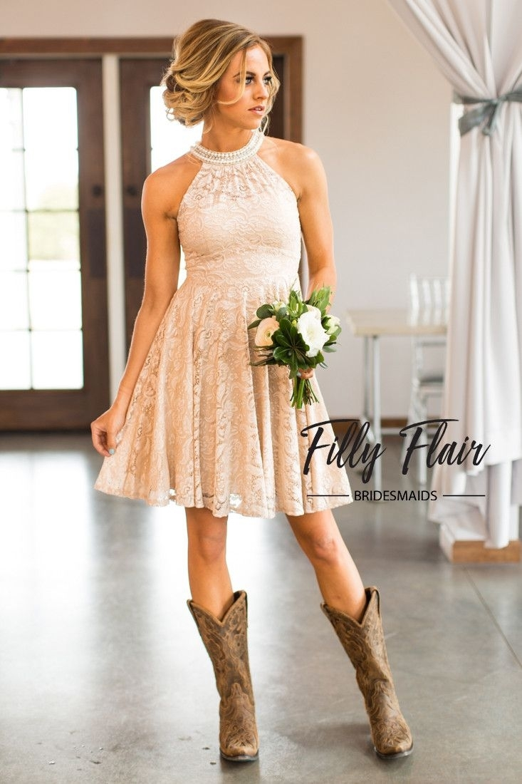 country style wedding dresses with cowboy boots photo - 1