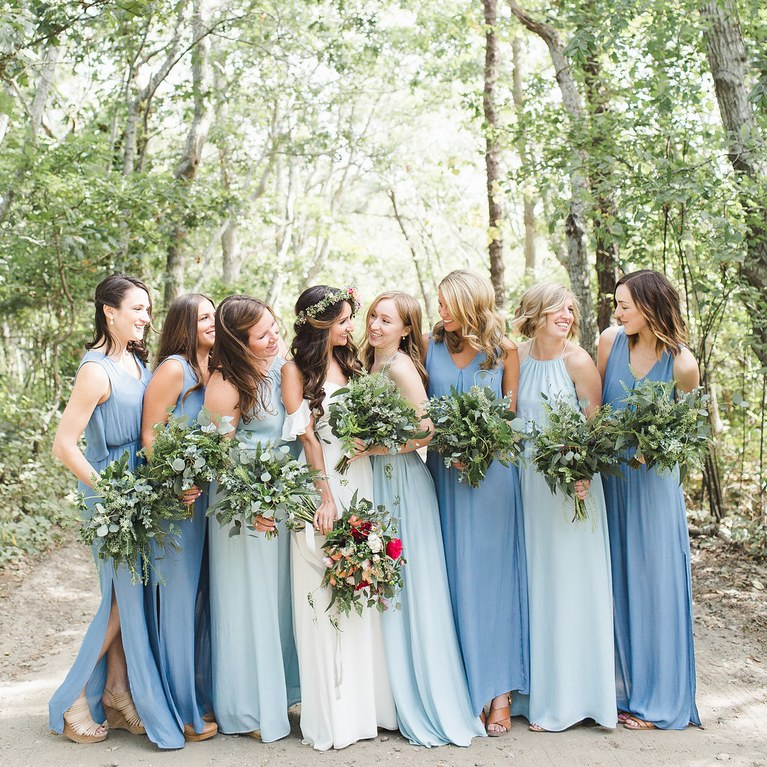 country themed wedding bridesmaid dresses photo - 1