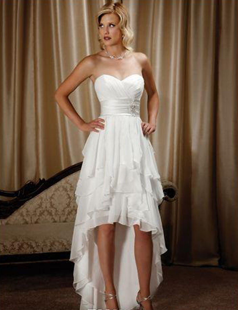 country wedding dresses short in front long in back photo - 1