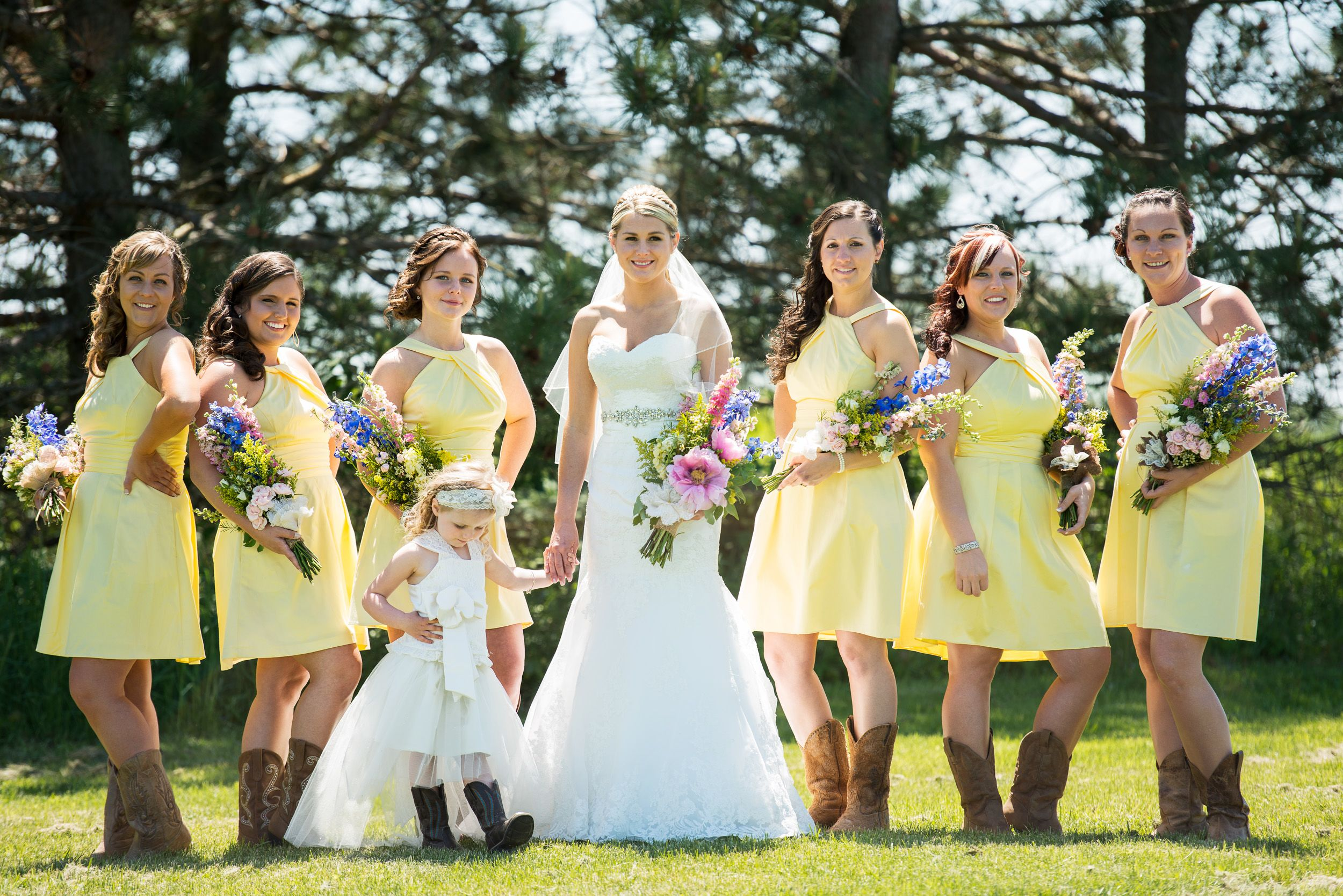 country wedding dresses with cowboy boots photo - 1