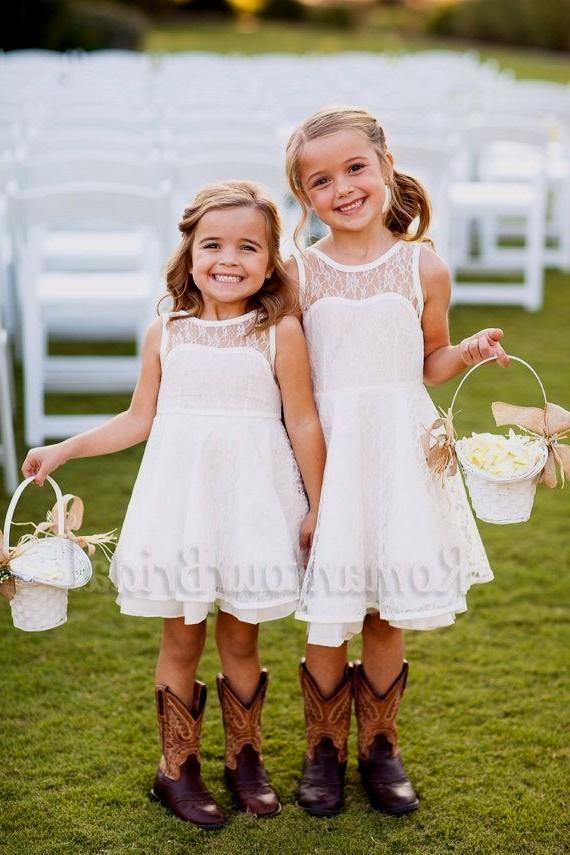 country wedding flower girl dresses photo - 1