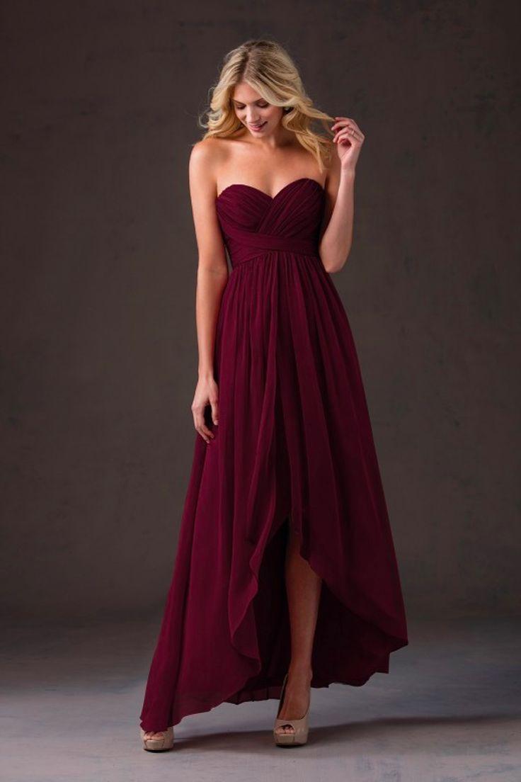 cranberry dresses for wedding photo - 1