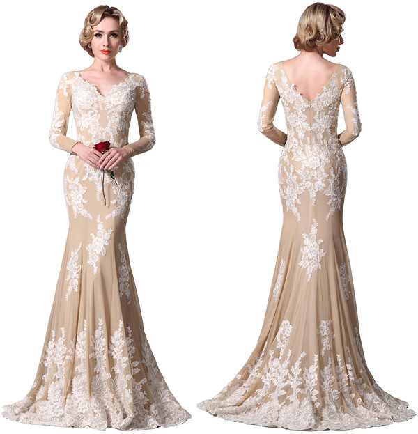 cream colored wedding dresses photo - 1