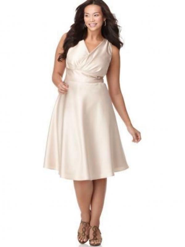 cream wedding dresses plus size photo - 1