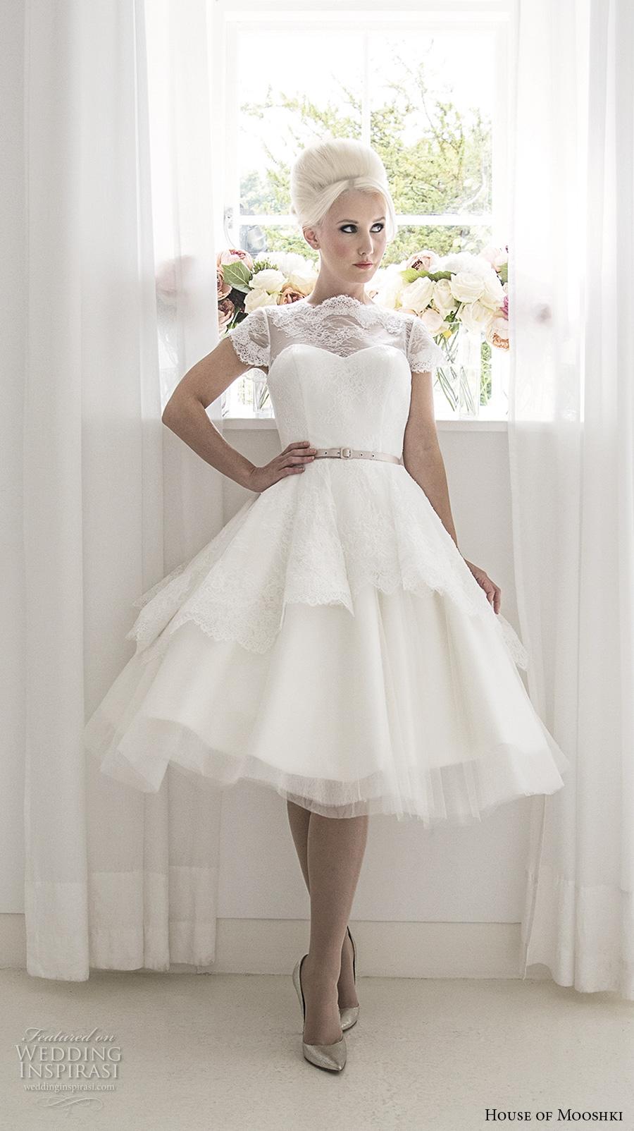 cream wedding dresses with sleeves photo - 1