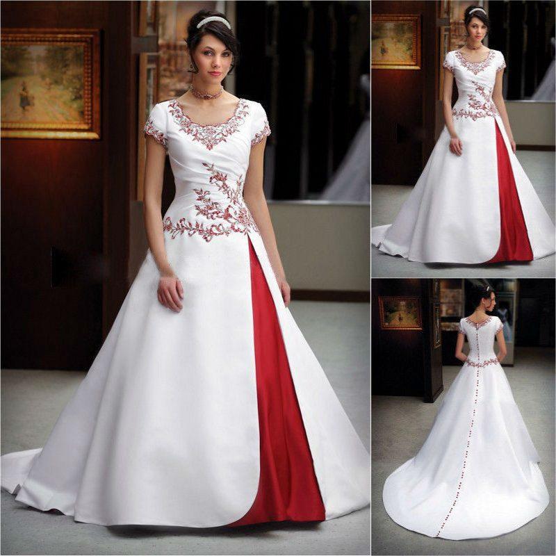 crimson wedding dresses photo - 1
