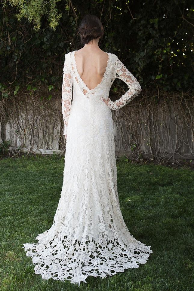 crocheted wedding dresses photo - 1