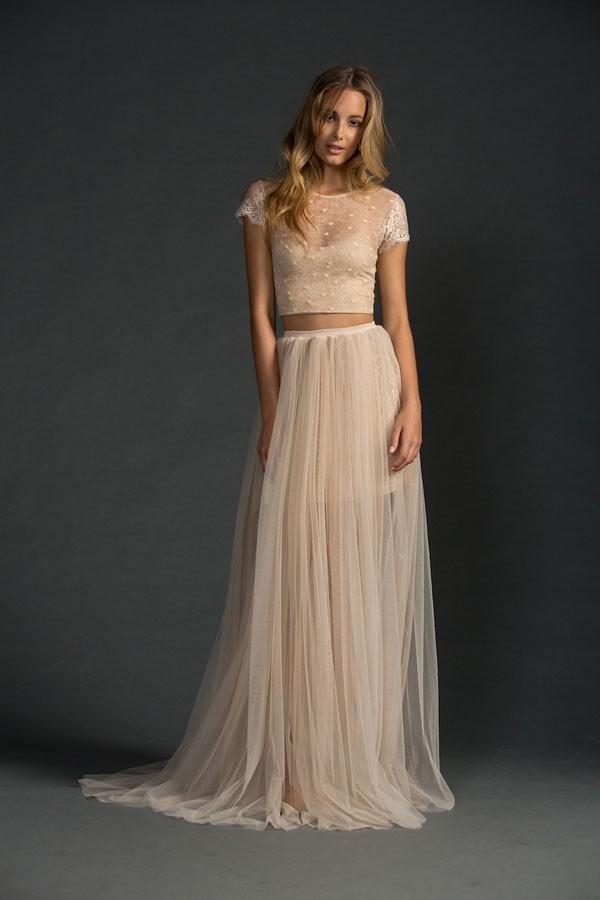 crop top wedding dresses photo - 1