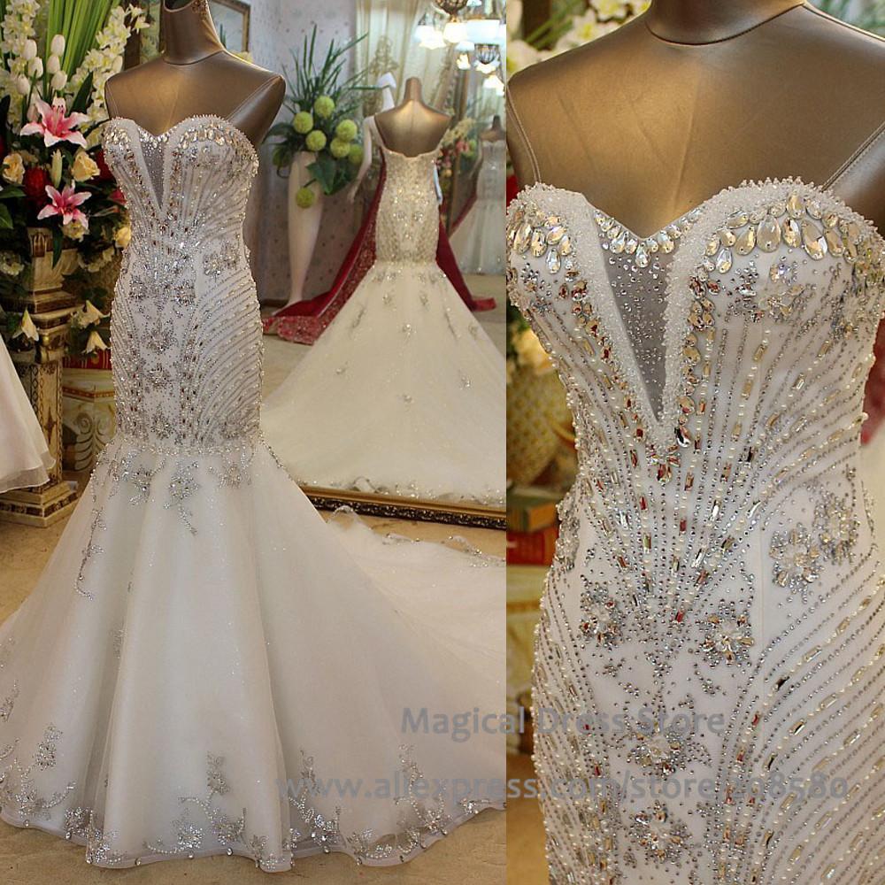 crystal mermaid wedding dresses photo - 1