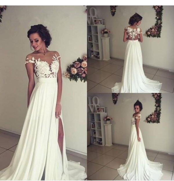 cute white wedding dresses photo - 1