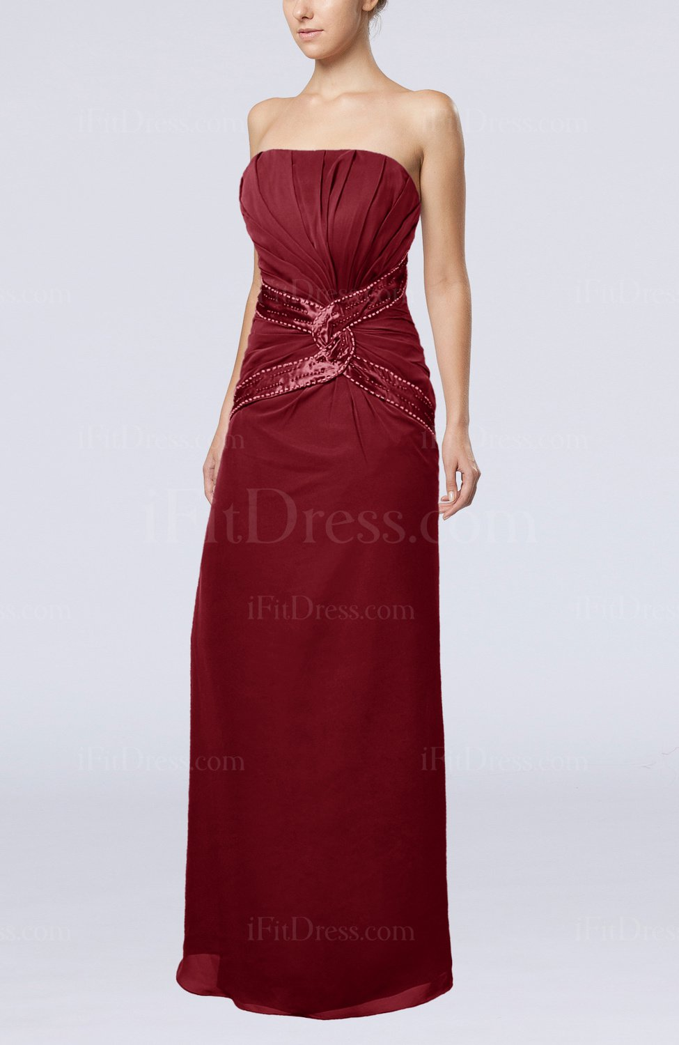 dark red wedding dresses photo - 1