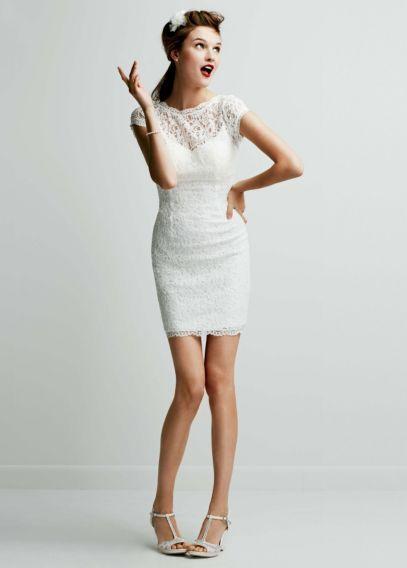 davids bridal short wedding dresses photo - 1
