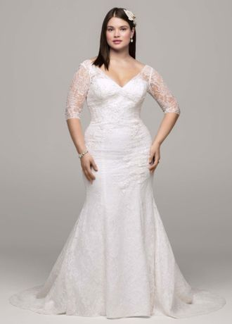 davids bridal wedding dresses with sleeves photo - 1