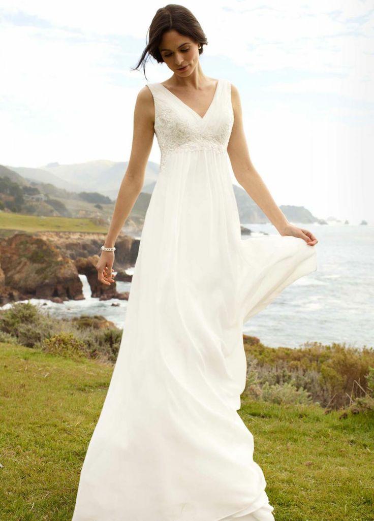 designer beach wedding dresses photo - 1