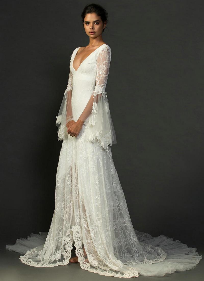 designer long sleeve wedding dresses photo - 1