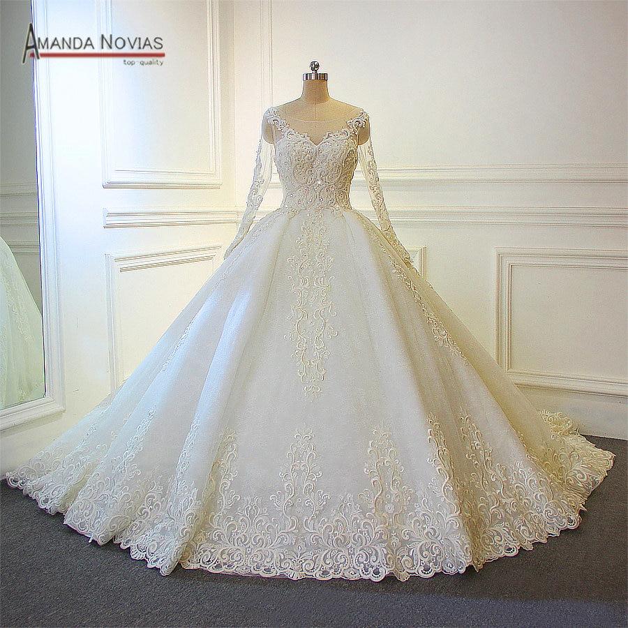 designer wedding dresses for less photo - 1