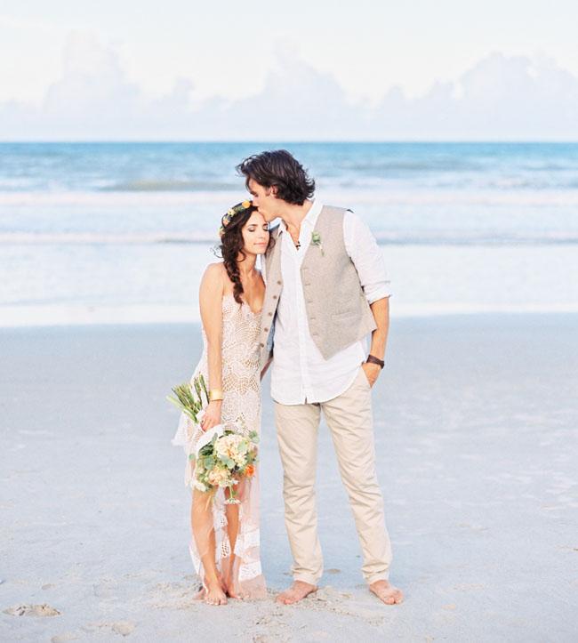 destination beach wedding dresses photo - 1