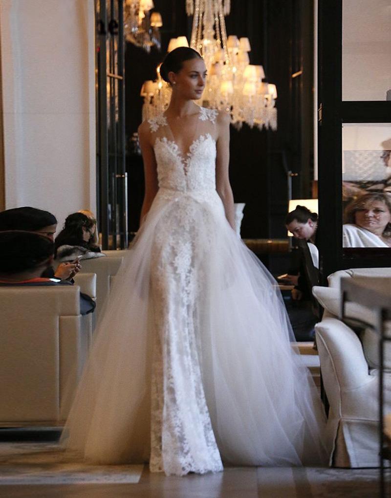 detachable skirt wedding dresses photo - 1