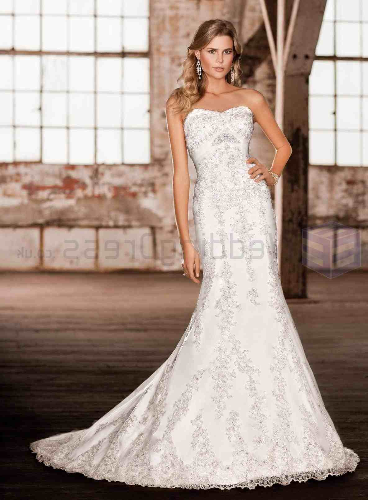diamond mermaid wedding dresses photo - 1