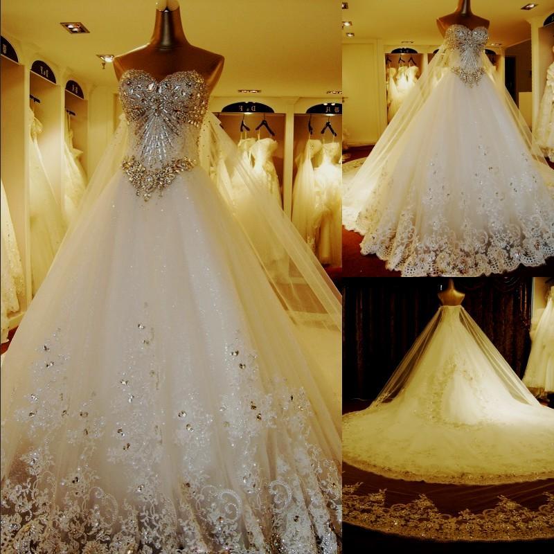 diamond wedding dresses photo - 1