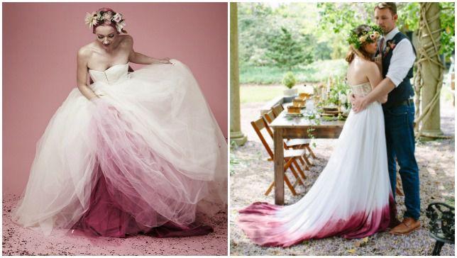 dip dye wedding dresses photo - 1