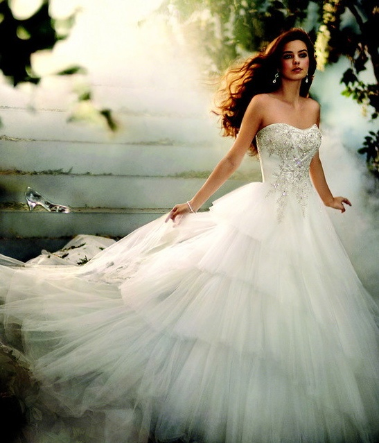 disney princess inspired wedding dresses photo - 1