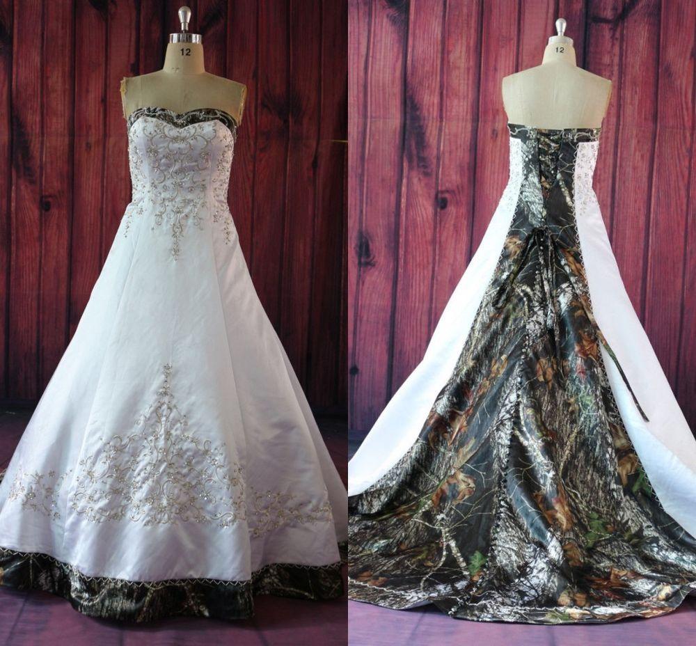 ebay camo wedding dresses photo - 1