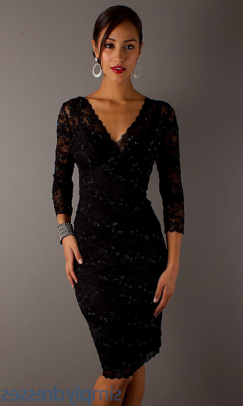 elegant black cocktail dresses photo - 1