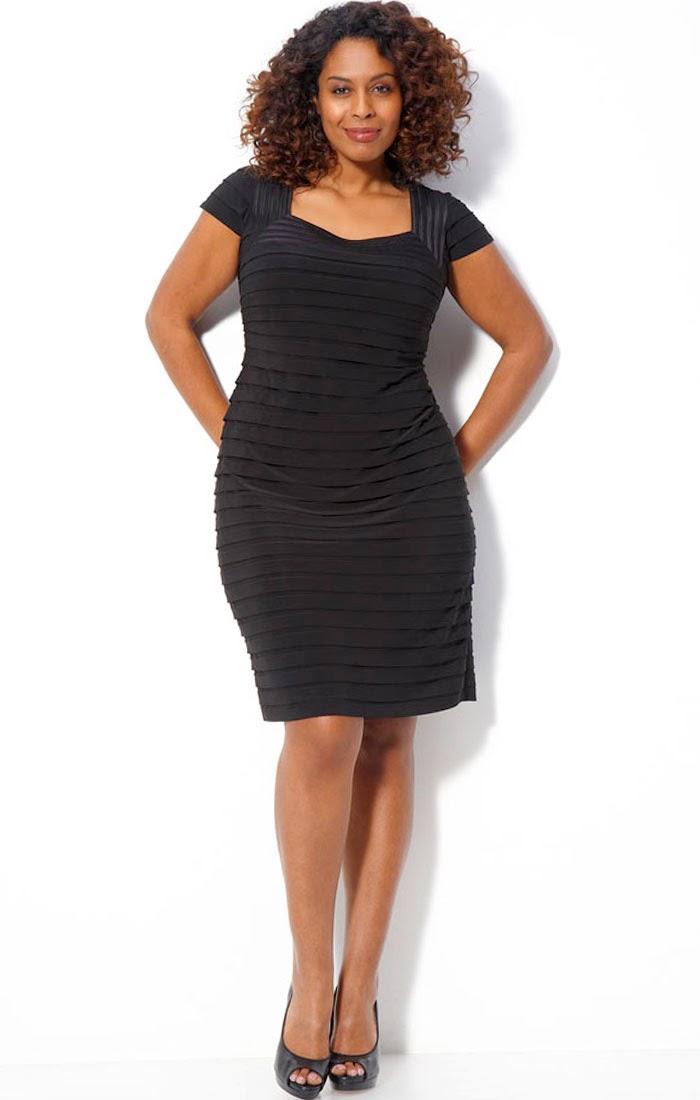 elegant black dresses plus size photo - 1