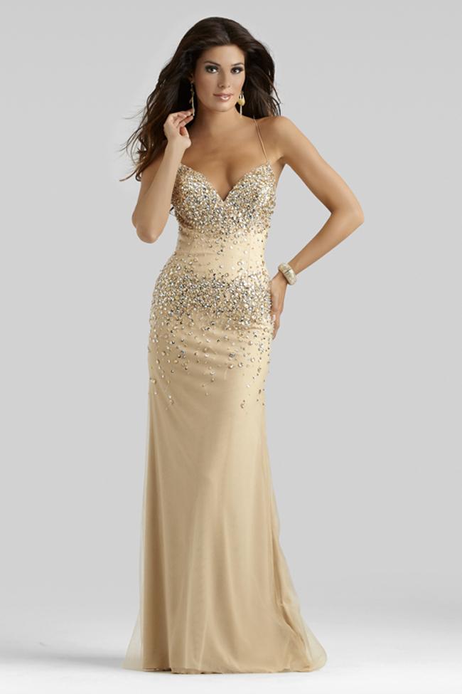 elegant champagne dresses photo - 1