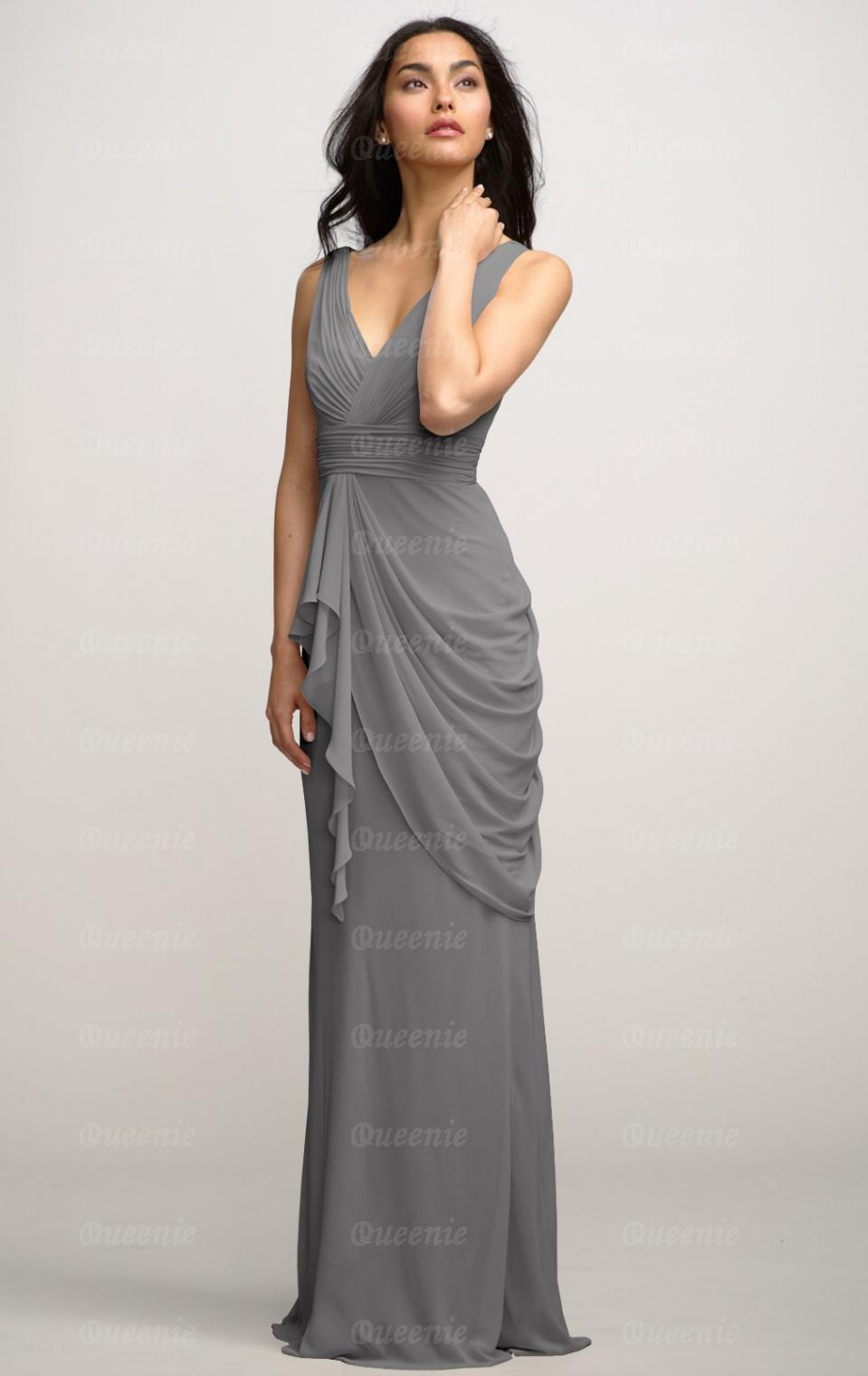 elegant grey dresses photo - 1