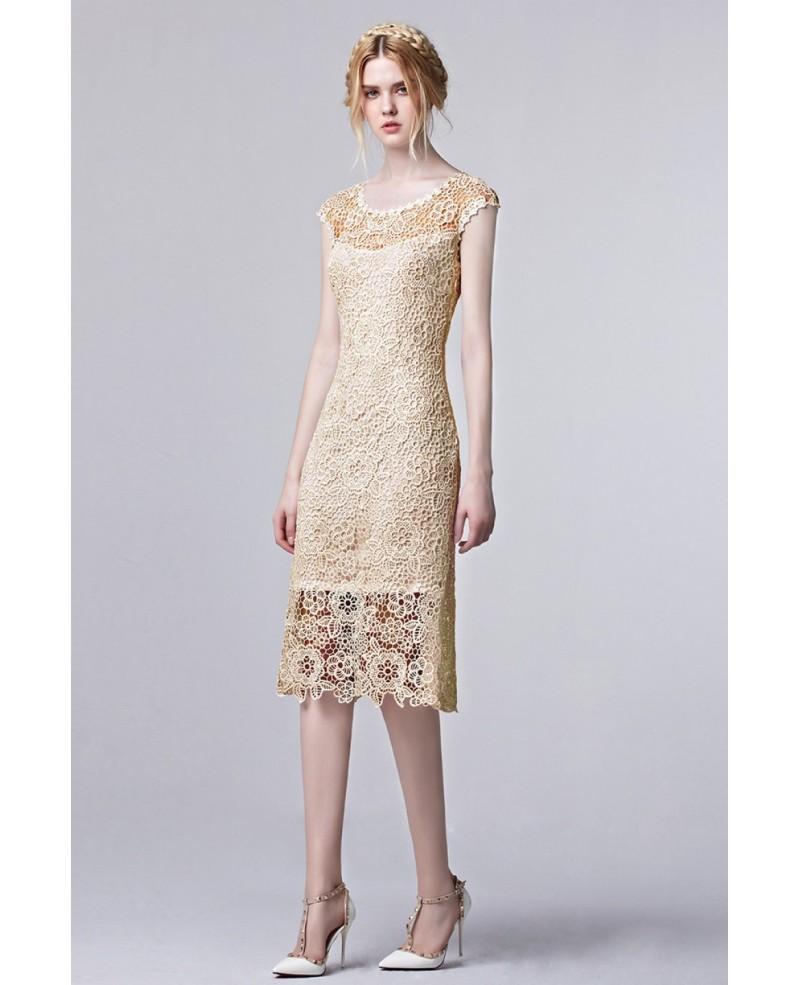 elegant knee length dresses photo - 1