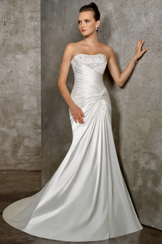 elegant mermaid wedding dresses photo - 1