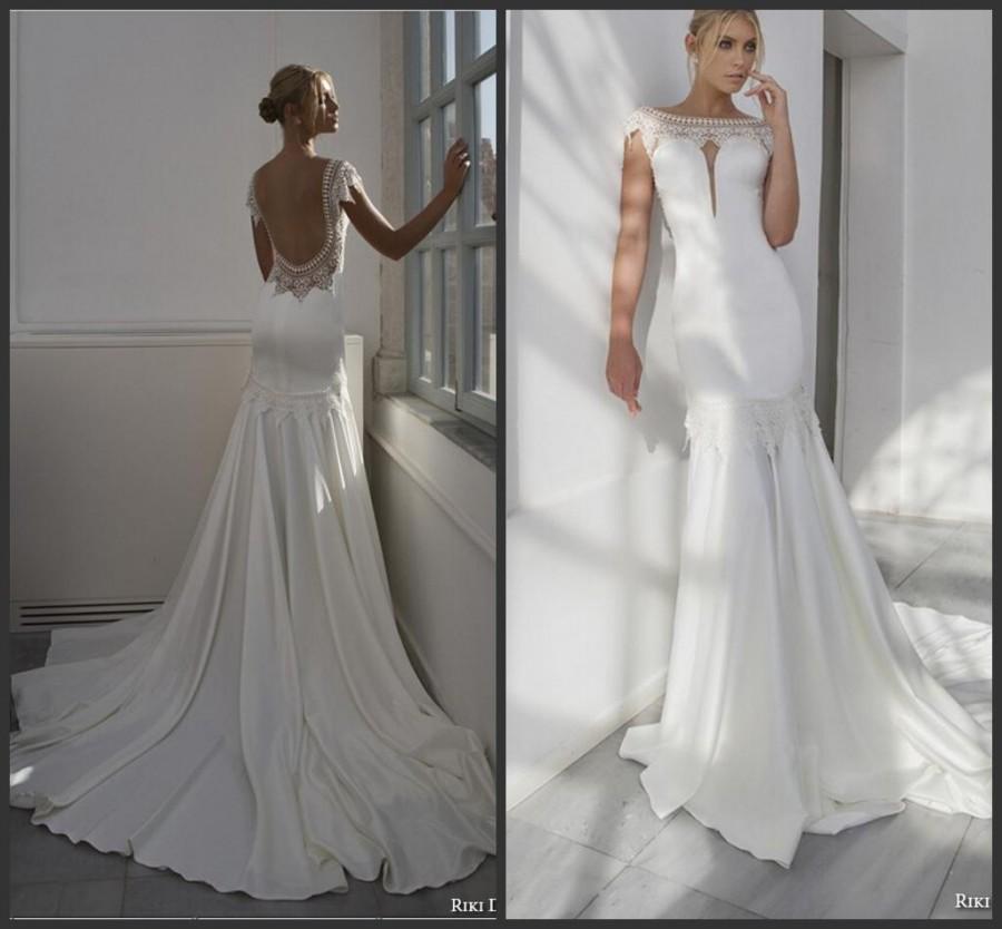 elegant satin wedding dresses photo - 1