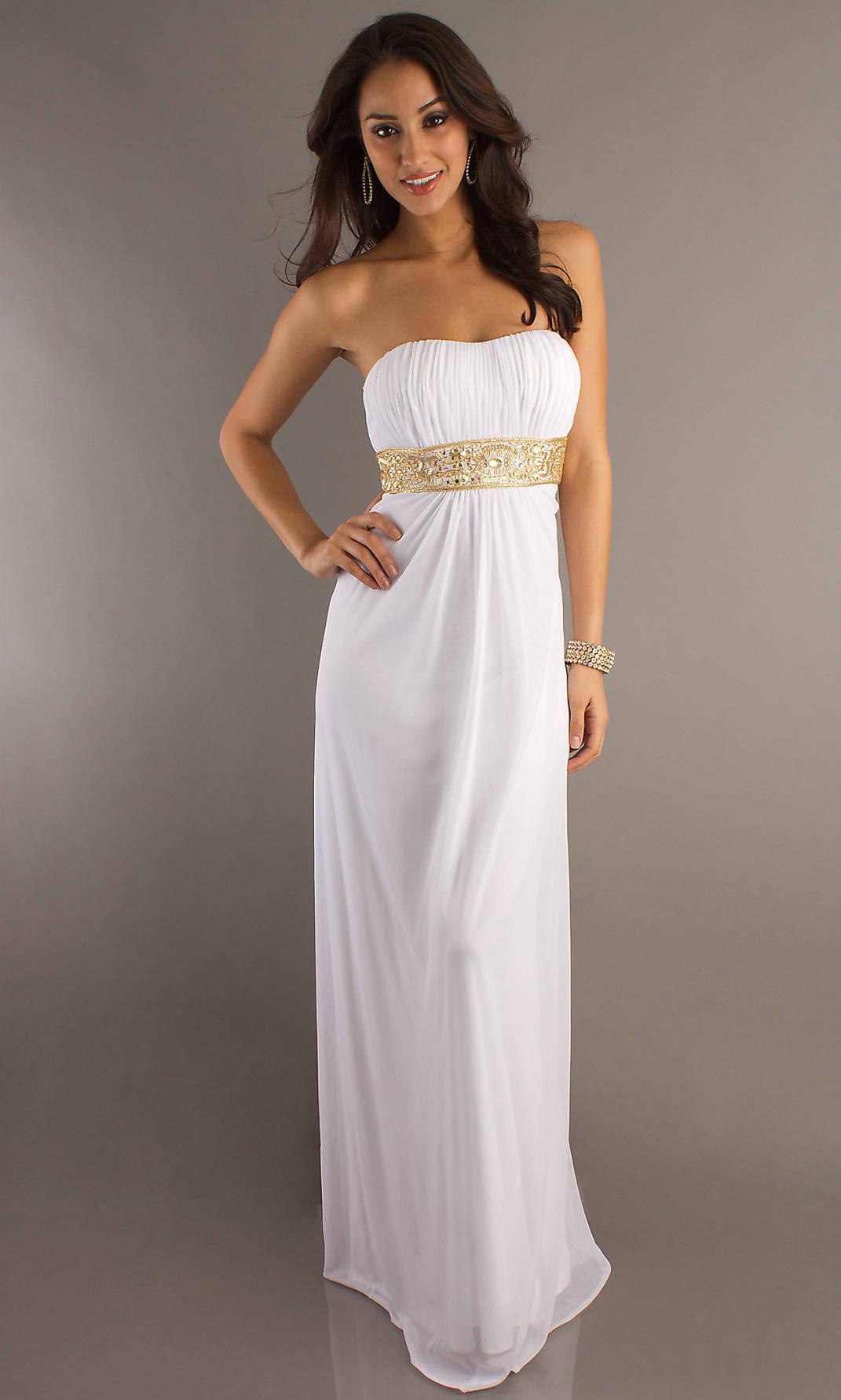 elegant white cocktail dresses photo - 1