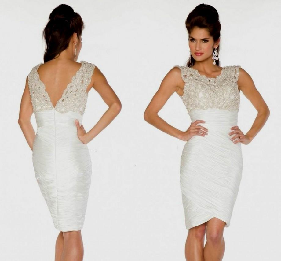elegant white dresses plus size photo - 1